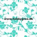 blomsterranke kort turkis