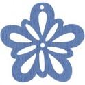 Blomster dia.27mm. 20 stk. lys blå
