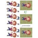 3D ark - fodboldspiller - 12612
