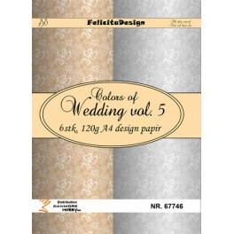 A4 design papir - wedding 5