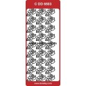 stickers - rose 6503 - sølv