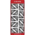 stickers - blomsterhjørner - DD6752 sølv