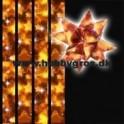 stjernestrimler 10mm x 64 tk. guld med stjerner på