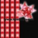 stjernestrimler 10mm x 64 tk. rød/hvid snefnug
