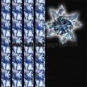 stjernestrimler 10mm x 64 tk. blå farver med stjerner