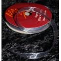 organza bånd 3mmx10m. sølv