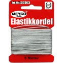 elastik 1mm x 5m. sølv