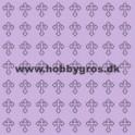 14x28 cm konfikort lys lilla m. kors