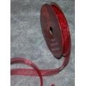 organza bånd 10mmx10m. vinrød - 50117