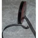 organza bånd 6mmx10m. sort - 50624