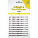 Halvperler selvklæbende 4mm lilla nuancer - APS406