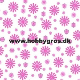 14x28cm blomsterkort pink