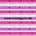 Konfirmation kort rød/pink/lilla 14x28cm