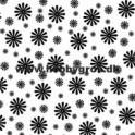 blomsterkort sort