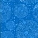 14x28cm kort snefnug blå