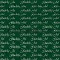 14x28cm kort glædelig jul hvid på grøn baggrund