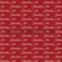 14x28cm kort glædelig jul hvid på rød baggrund
