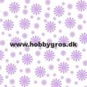Blomsterkort Lilla 14x28cm