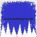14x28cm julekort  juletræer blå