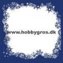 14x28cm julekort ramme kongeblå