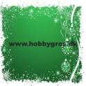14x28cm julekort klokker grøn