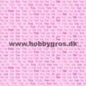 14x28cm takkekort  pink