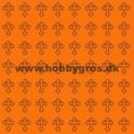 14x28 cm konfikort orange m. kors