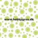 blomsterkort lime grøn